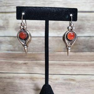 Vtg handmade sterling silver earrings